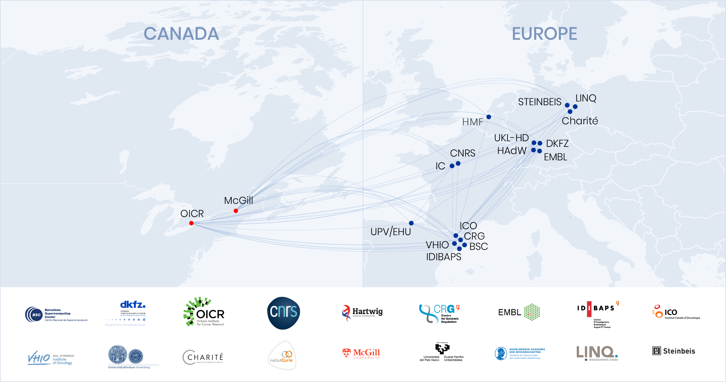 Map Of Canada And Europe.European Canadian Cancer Network Eucancan
